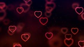 Pendiente roja y púrpura de la pendiente abstracta de la Navidad en el CCB negro imagen de archivo libre de regalías