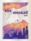 Pendiente v de la ciudad del horizonte de los E.E.U.U. los Estados Unidos de América Los Ángeles libre illustration