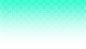 Pendiente verde blanca del papel pintado linear de diseño del vector del fondo médico fotografía de archivo