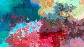 Pendiente video manchada animada abstracta del color del arco iris del lazo inconsútil del fondo