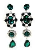 Pendientes de la joyería con los cristales brillantes Imagen de archivo libre de regalías