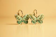 Pendientes de la mariposa Fotografía de archivo libre de regalías