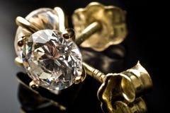 Pendientes del diamante Fotografía de archivo libre de regalías
