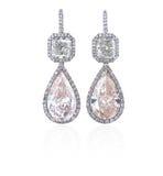 Pendientes del diamante. Foto de archivo libre de regalías