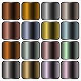 Pendientes del metal Fotos de archivo libres de regalías