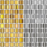 Pendientes del oro y de la plata Fotografía de archivo