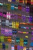 Pendientes hechos a mano coloridos Foto de archivo