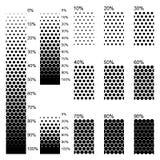 Pendientes lineares opacas en el arreglo lo más perfectamente posible denso ilustración del vector