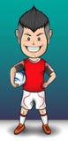 Pendientes simples del fichero del fútbol boy Fotografía de archivo libre de regalías