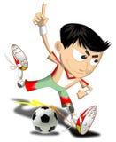 Pendientes simples del fichero del fútbol boy imagenes de archivo