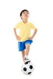 Pendientes simples del fichero del fútbol boy Foto de archivo