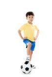 Pendientes simples del fichero del fútbol boy Imagen de archivo libre de regalías