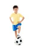 Pendientes simples del fichero del fútbol boy Imágenes de archivo libres de regalías