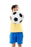 Pendientes simples del fichero del fútbol boy Imagen de archivo
