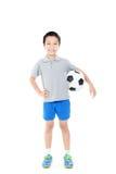 Pendientes simples del fichero del fútbol boy Foto de archivo libre de regalías