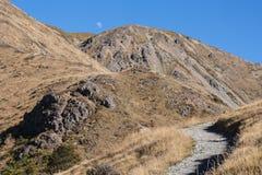 Pendii aridi sul Mt Robert in Nelson Lakes National Park Immagini Stock