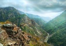 Pendii del canyon della montagna Fotografie Stock Libere da Diritti