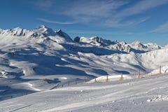 Pendii del dIsère di Val dalla cima del Funival Fotografie Stock Libere da Diritti