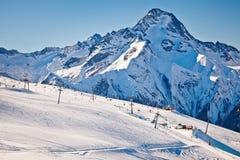 Pendii del pattino in alpi francesi Fotografie Stock Libere da Diritti
