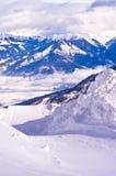 Pendii del pattino sul ghiacciaio di Kaprun Fotografie Stock