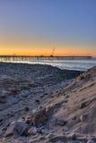Pendii della sabbia di nuovo all'acqua Fotografia Stock