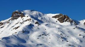 Pendii dello sci e della seggiovia, Flumserberg Fotografia Stock Libera da Diritti