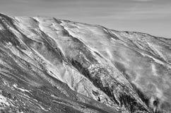 Pendii di montagne grafici Fotografie Stock Libere da Diritti
