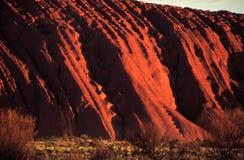 Pendii di Uluru Fotografia Stock Libera da Diritti