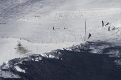 Pendii nella stazione sciistica di Deux Alpes. La Francia Fotografie Stock Libere da Diritti