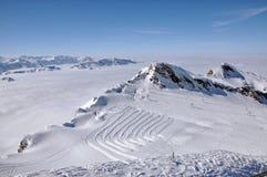Pendii nella stazione sciistica Kitzsteinhorn, Austria Immagine Stock Libera da Diritti