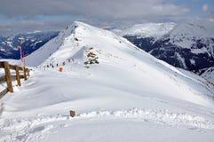 Pendii nella stazione sciistica Salbaach, alpi austriache Fotografie Stock