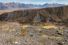 Pendii sterili in alpi del sud Fotografia Stock Libera da Diritti