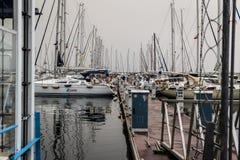 Pendik小游艇船坞和海运输-土耳其 免版税库存照片