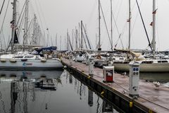 Pendik小游艇船坞和海运输-土耳其 图库摄影