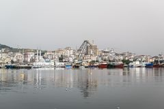 Pendik小游艇船坞和海运输-土耳其 库存照片