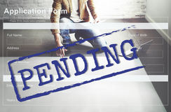 Pending Application Form Document Reply Concept Stock Photos