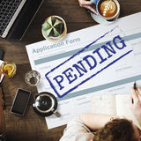 Pending Application Form Document Reply Concept Royalty Free Stock Photos