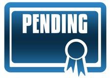 PENDING blue certificate. Stock Photos