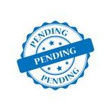 Pending stamp illustration. Pending blue stamp seal illustration design Royalty Free Stock Photo