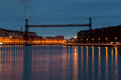 Pending bridge in Portugalete Stock Photography