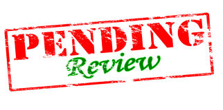 Pending review. Rubber stamp with text pending review inside,  illustration Stock Photos