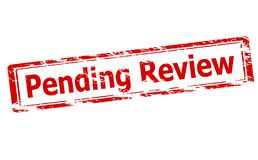 Pending review. Rubber stamp with text pending review inside,  illustration Royalty Free Stock Photography