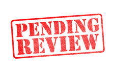 PENDING REVIEW Stamp Stock Image