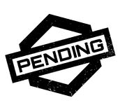 Pending rubber stamp. Grunge design with dust scratches. Effects can be easily removed for a clean, crisp look. Color is easily changed Royalty Free Stock Image