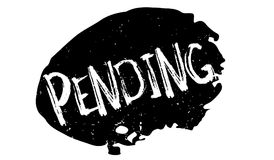 Pending rubber stamp. Grunge design with dust scratches. Effects can be easily removed for a clean, crisp look. Color is easily changed Stock Images
