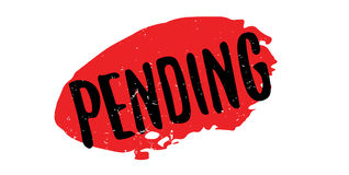Pending rubber stamp Royalty Free Stock Images
