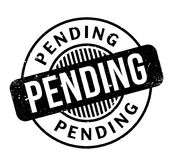 Pending rubber stamp. Grunge design with dust scratches. Effects can be easily removed for a clean, crisp look. Color is easily changed Stock Image