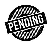 Pending rubber stamp. Grunge design with dust scratches. Effects can be easily removed for a clean, crisp look. Color is easily changed Royalty Free Stock Photography
