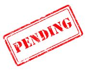 Pending rubber stamp Stock Photos