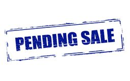 Pending sale. Rubber stamps with text pending sale inside,  illustration Stock Photos